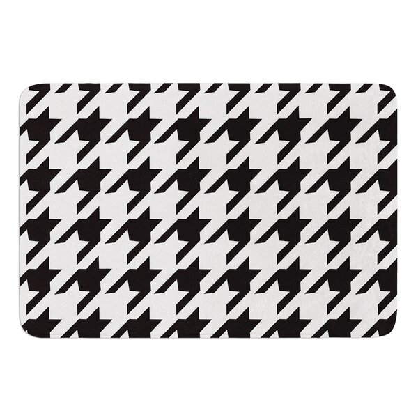 Spacey Houndstooth by Empire Ruhl Bath Mat by East Urban Home