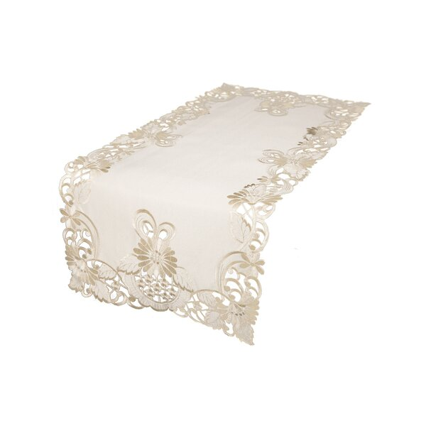 Tyris Embroidered Cutwork Table Runner by August Grove