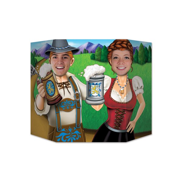Oktoberfest Couple Photo Prop Standup by The Beistle Company
