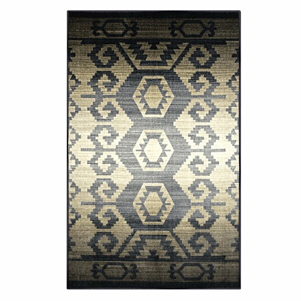 Huntley Superior Printed Non-Slip Blue/Gray Area Rug by Union Rustic