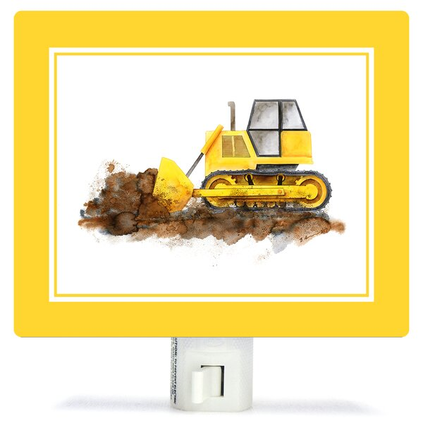 Construction Vehicles - Bulldozer by Brett Blumenthal Night Light by Oopsy Daisy