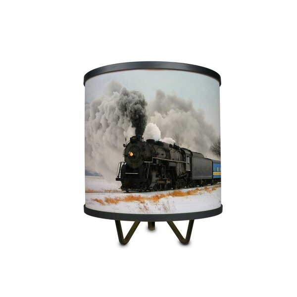 Train in Winter 10.75 Table Lamp by East Urban Home