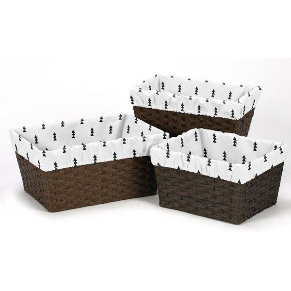 Bear Mountain 3 Piece Basket Liner Set by Sweet Jojo Designs