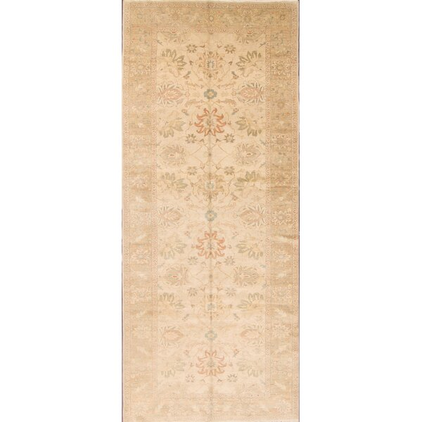 One-of-a-Kind Carle Ziegler Oushak Egypt Oriental Hand-Knotted Wool Beige/Ivory Area Rug by One Allium Way