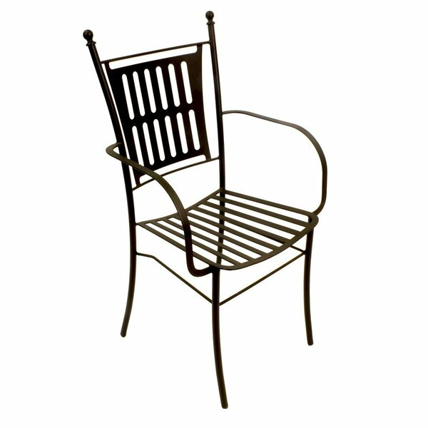 Muwidi Wrought Eva Patio Dining Chair by Winston Porter