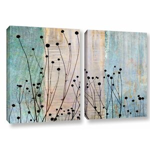 'Dark Silhouette II' 2 Piece Graphic Art on Wrapped Canvas Set by Red Barrel Studio