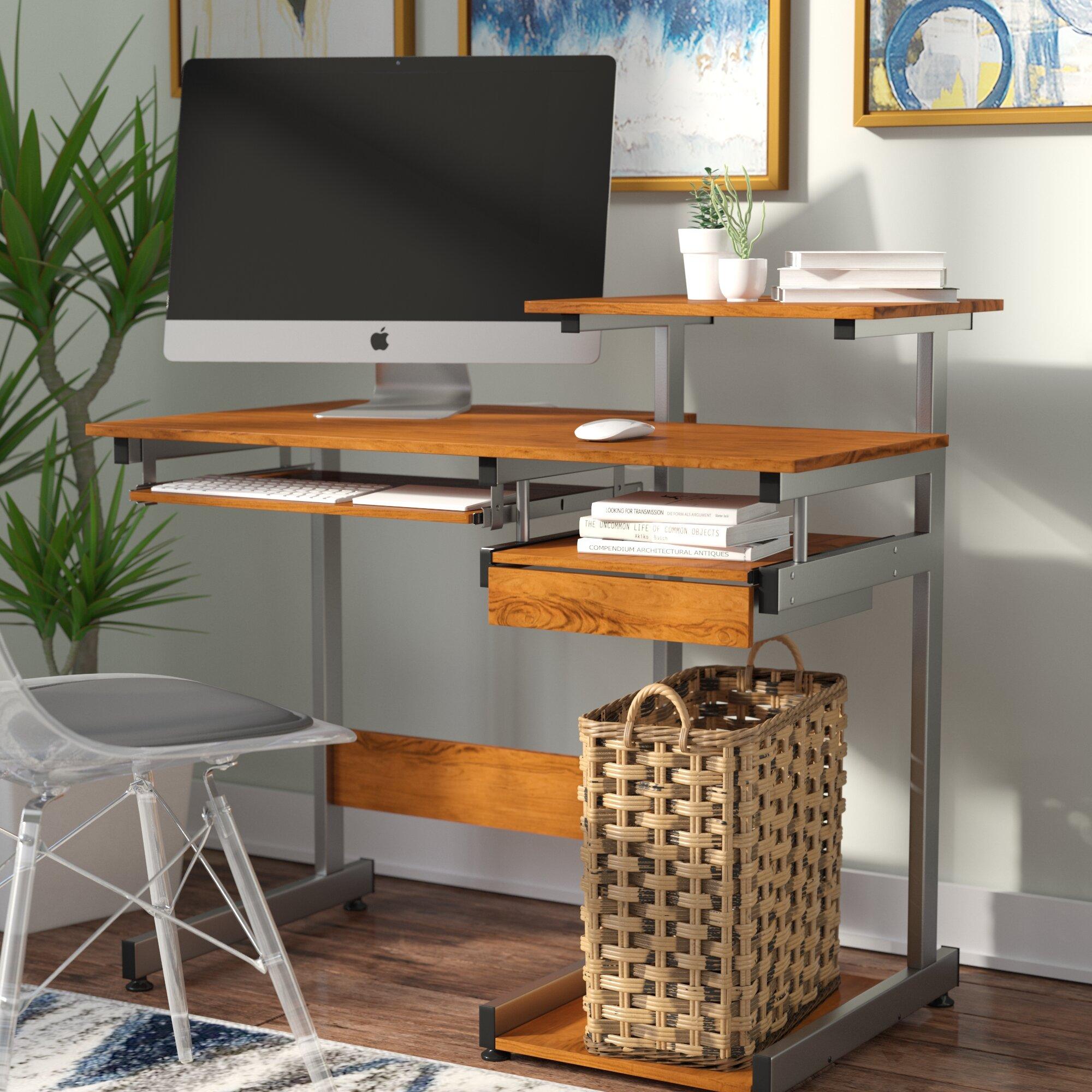 Ebern Designs Velia Compact Computer Desk & Reviews   Wayfair