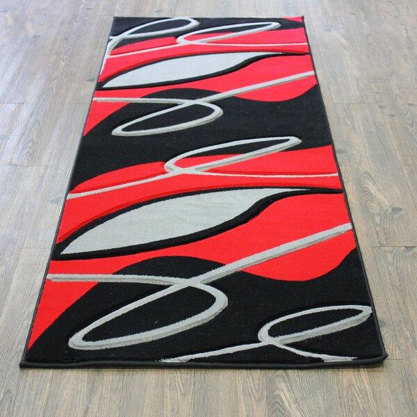 Geo Black/Red Area Rug by Rug Factory Plus