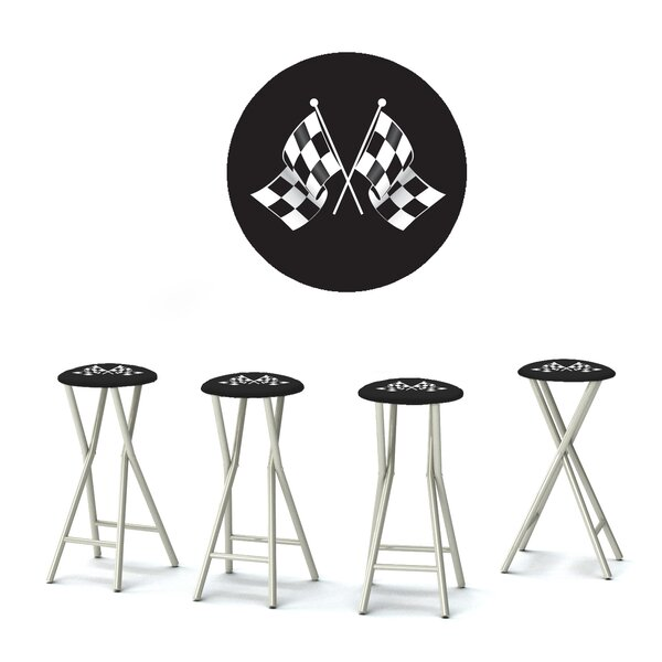 I Wanna Go Fast 30 Patio Bar Stool with Cushion (Set of 4) by Best of Times