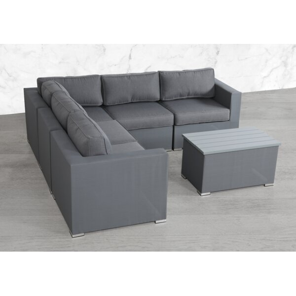 Fryar 6 Piece Sectional Seating Group with Cushions by Orren Ellis