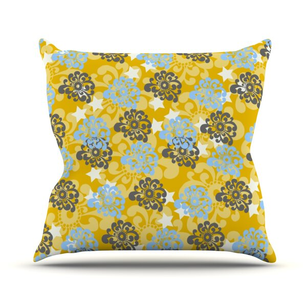 Flower Outdoor Throw Pillow by East Urban Home