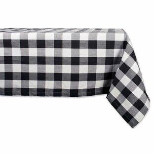 Black Check Tablecloth | Wayfair