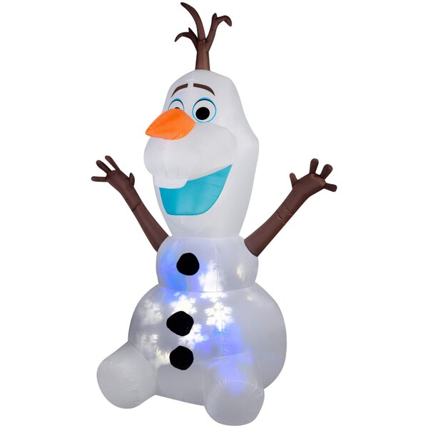 Projection Snowflurry Olaf Inflatable by The Holiday Aisle