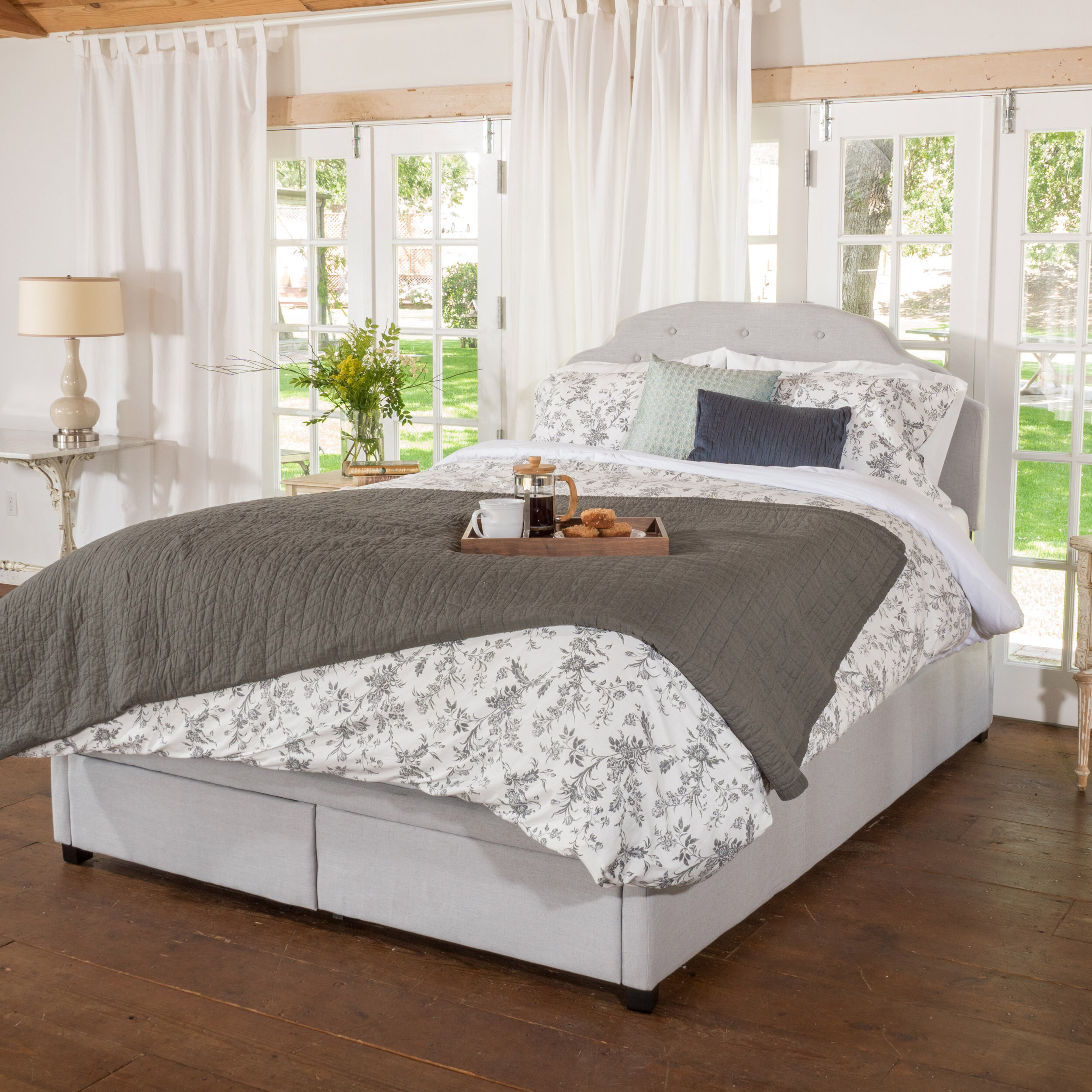 Darby Home Co Arana Upholstered Storage Panel Bed   Wayfair