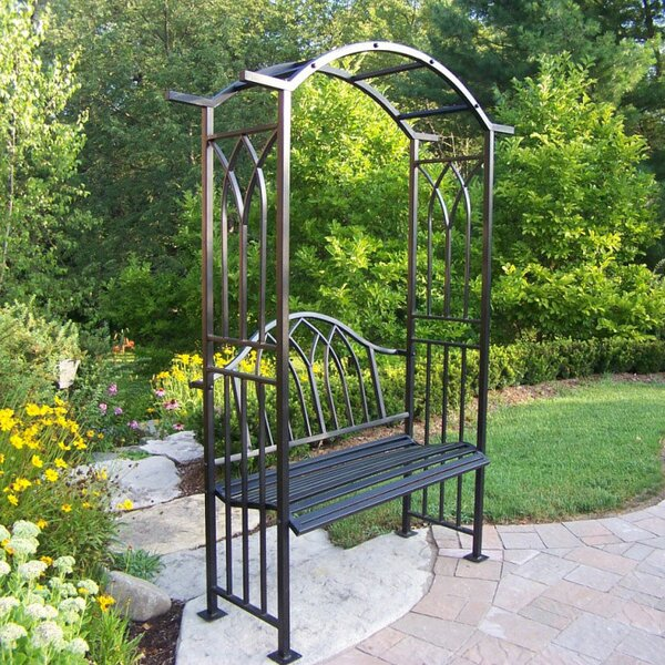 Royal Steel Arbor with Bench by Oakland Living