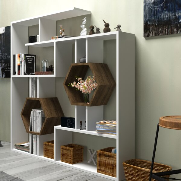 Swenson Geometric Bookcase By Hashtag Home