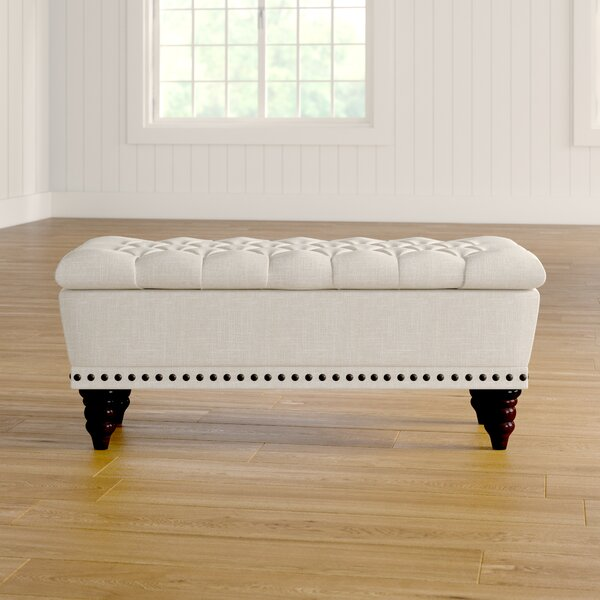 Gwyneth Upholstered Flip Top Storage Bench By Andover Mills