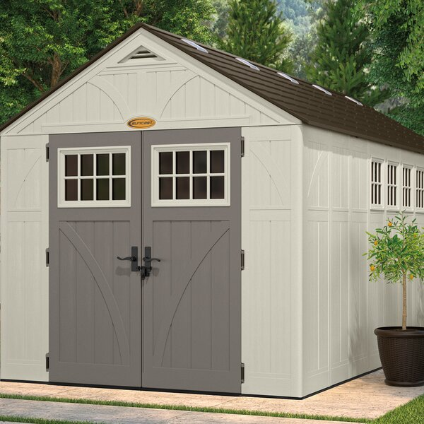 Tremont 8 ft. 5 in. W x 16 ft. 4 in. D Plastic Storage Shed by Suncast
