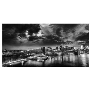 Amazing Night in New York City Cityscape Photographic Print on Wrapped Canvas by Design Art