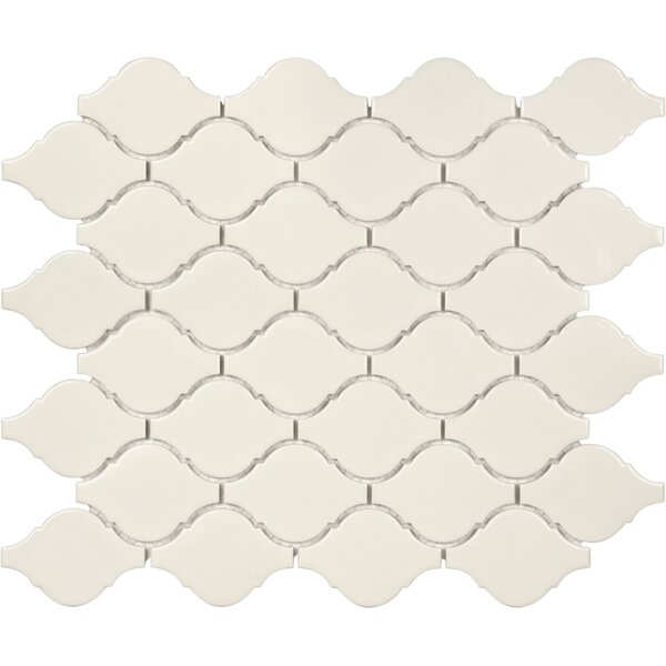 Sail Ceramic/Porcelain Mosaic Tile in Glossy Biscotti by Parvatile