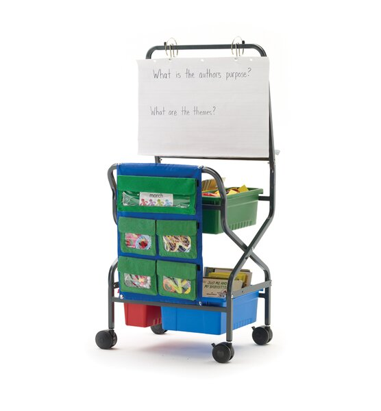 Double Sided 8 Compartment Teaching Cart with Bins by Copernicus