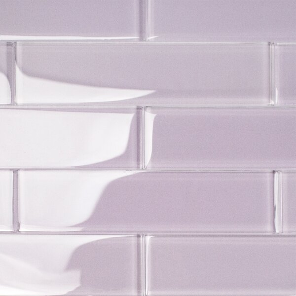 Contempo 2 x 8 Glass Subway Tile in Wisteria by Splashback Tile