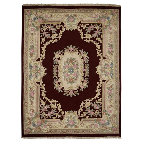 Fetters Hand-Knotted Wool Beige/Black Area Rug by Astoria Grand