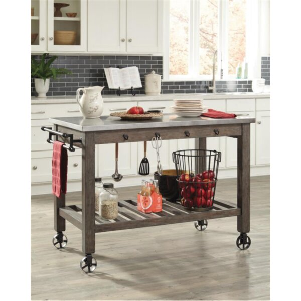 Baston Kitchen Island by Gracie Oaks