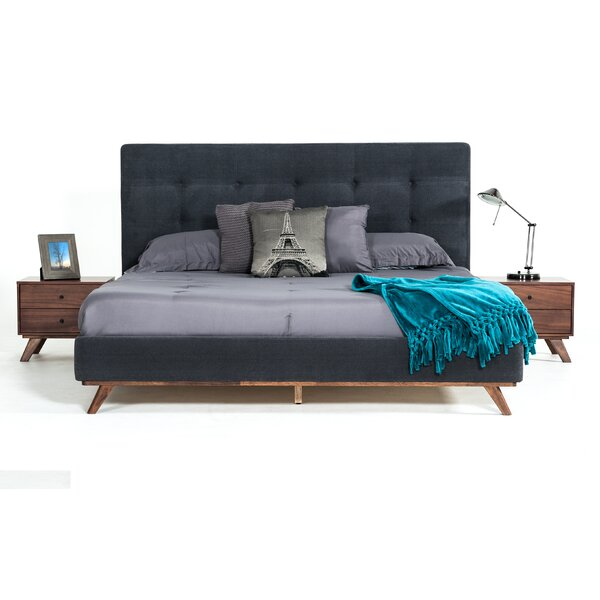 Rocco Upholstered Platform Bed by Modern Rustic Interiors
