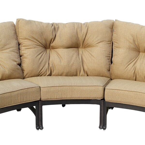 Carlitos Center Sectional with Cushion by Darby Home Co