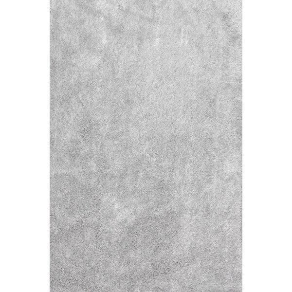 Marceline Hand-Tufted Silver Area Rug by Ebern Designs