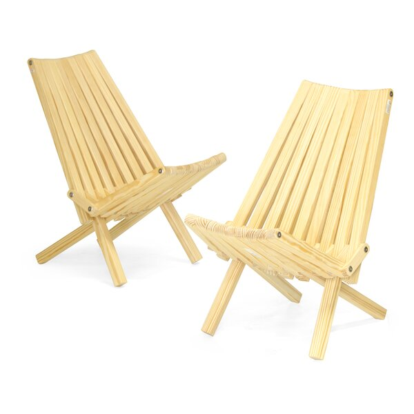 Solid Wood Folding Adirondack Chair (Set of 2) by GloDea