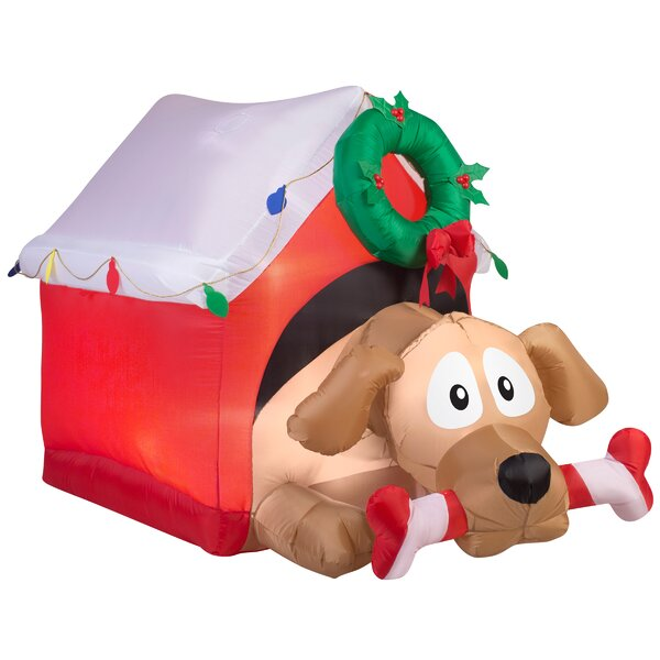 Animated Dog Lawn Décor Inflatable by The Holiday Aisle