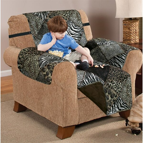 Printed T-Cushion Armchair Slipcover by Bloomsbury Market