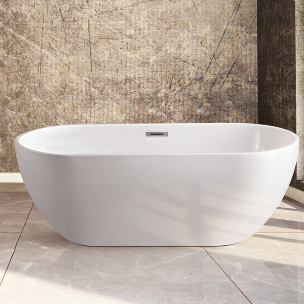 59 x 23 Freestanding Soaking Bathtub by Wildon Home ®