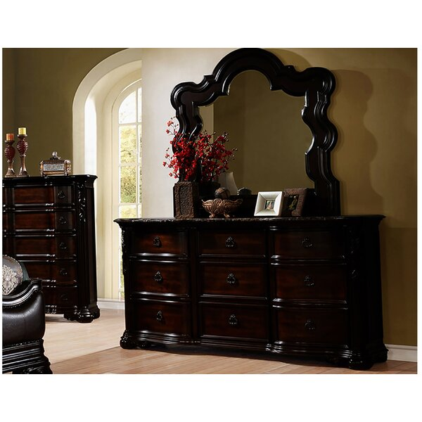 Mustafa 9 Drawer Dresser with Mirror by Astoria Grand