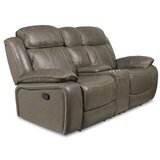 Principato Genuine Leather Reclining 73 Pillow top Arm Loveseat by Red Barrel Studio®