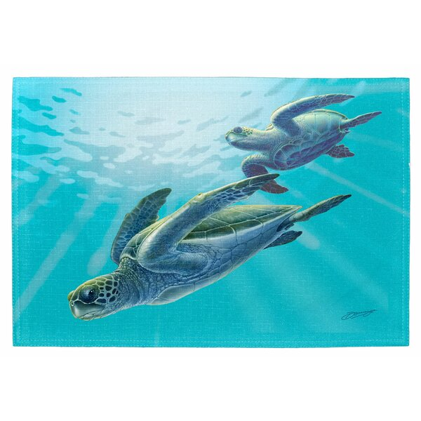 Sea Turtles Placemat (Set of 2) by Live Free