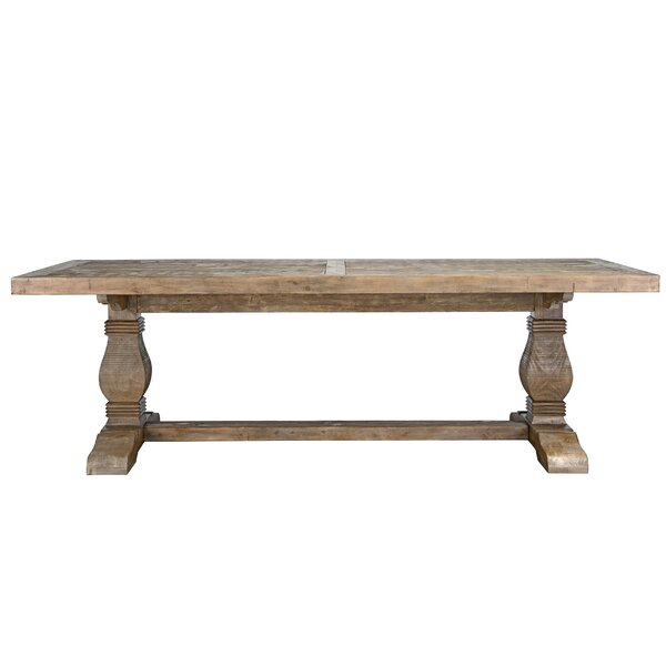Gertrude Solid Wood Dining Table by Lark Manor