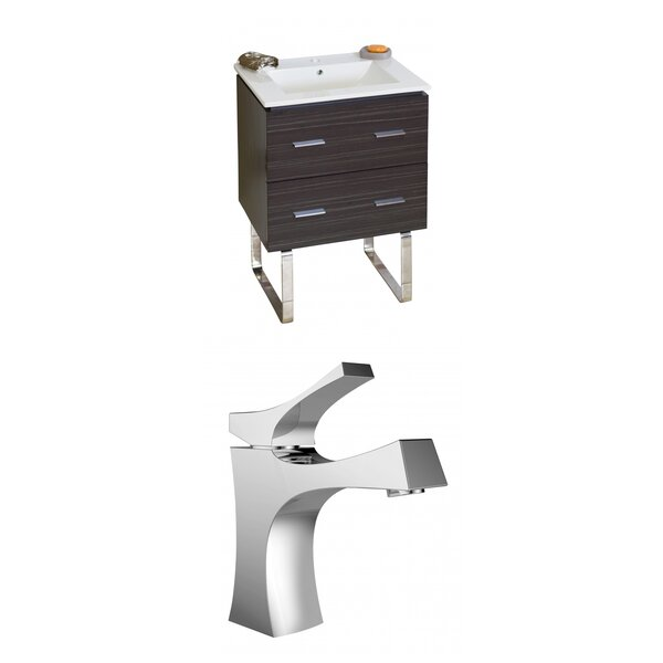 Kyra 24 Multi-Layer Stain Rectangle Single Bathroom Vanity Set by Orren Ellis