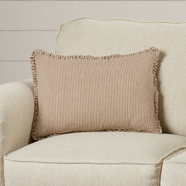 Cordele Stripe Cotton Lumbar Pillow by Eider & Ivory