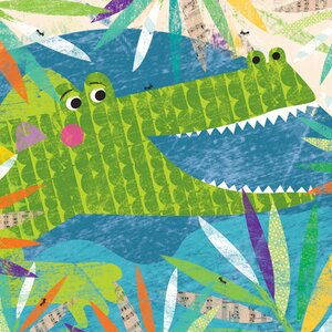 Eliana Crocodile Canvas Art by Zoomie Kids