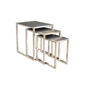 Brayden Studio Callaghan Stone Top 3 Piece Nesting Tables Image