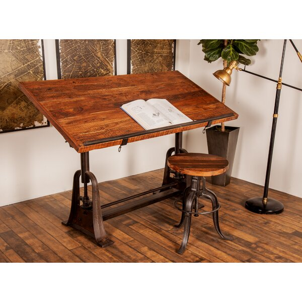 Rustic Rectangular Drafting Craft Table by Cole &