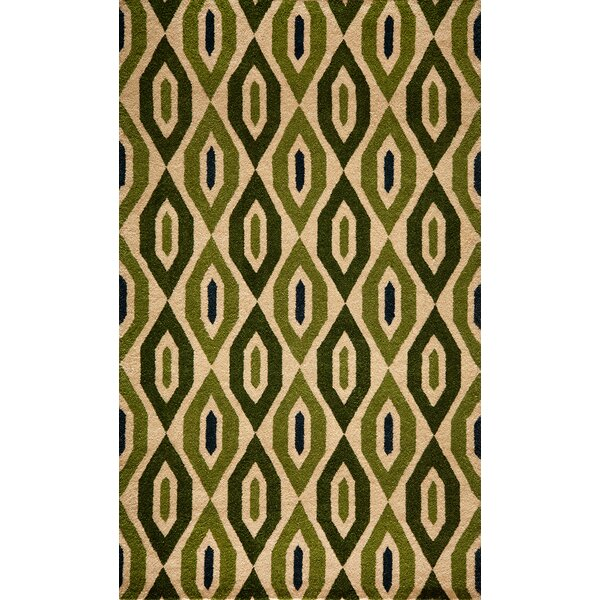 Elvera Hand-Tufted Green Area Rug by World Menagerie