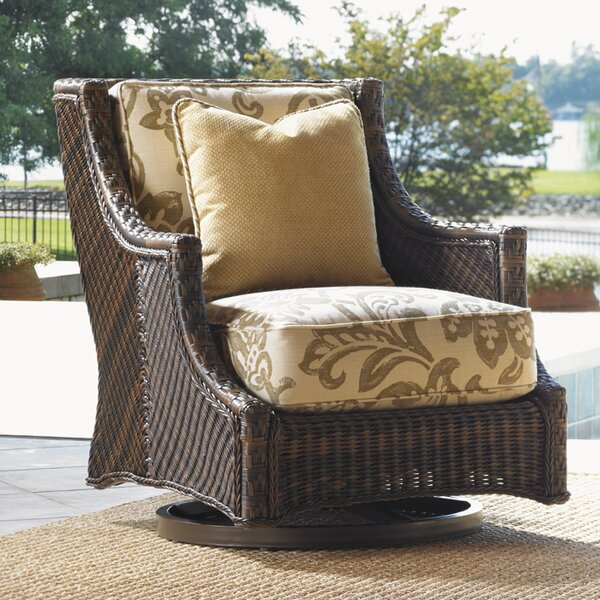 Island Estate Lanai Swivel Patio Chair with Cushio