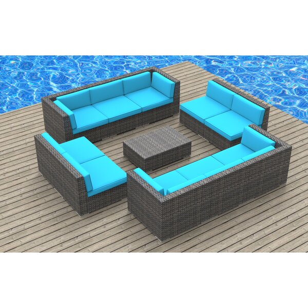 Kirkpatrick 11 Piece Sectional Set with Cushions by Brayden Studio