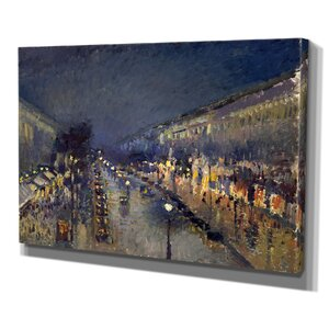 The Boulevard Montmartre by Camille Pissarro Print of Painting on Wrapped Canvas by Wexford Home