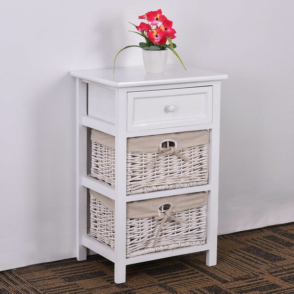 Carrol 1 Drawer Nightstand by Highland Dunes