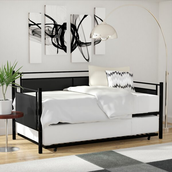 Callicoat Metal And Upholstered Twin Daybed With Trundle By Wade Logan